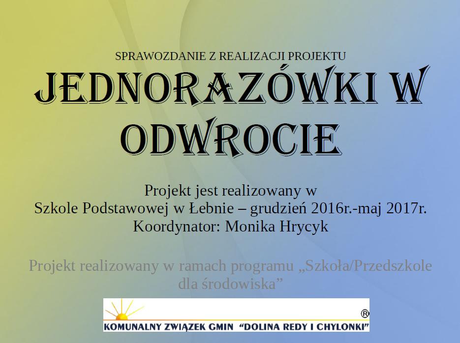 GR6_Monika Hrycyk_Jednorazówki w odwrocie Ochrona środowiska w praktyce