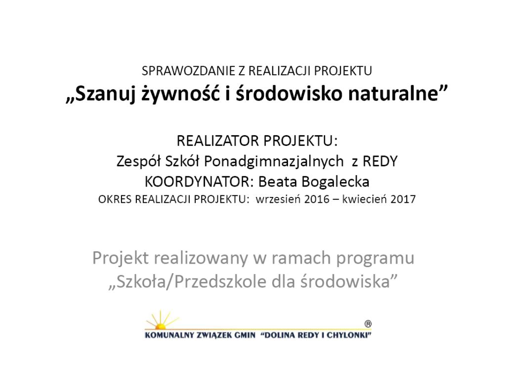 GR1_Beata-Bogalecka_Szanuj-żywność-i-środowisko-naturalne Ochrona środowiska w praktyce