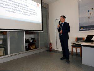 Zarząd Dróg i Zieleni w Gdyni Andrzej Ryński – Z-ca Dyrektora ds. Infrastruktury podczas prezentacji