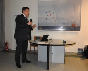 Andrzej Winiarski – Z-ca Dyrektora ds. Usług Wodnych PGW Wody Polskie RZGW w Gdańsku podczas prezentacji