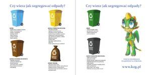 Ulotka informacyjna KZG dotycząca prawidłowej segregacji odpadów