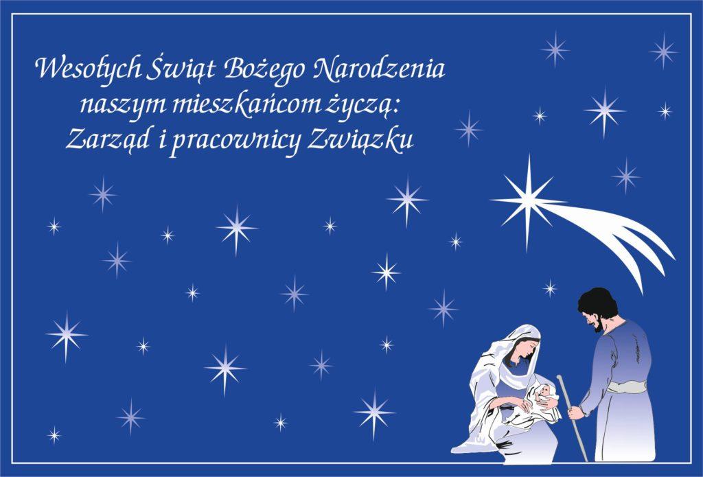Życzenia świąteczne dla mieszkańców terenu Związku