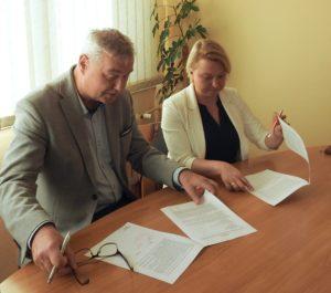 Przewodniczący Zarządu KZG Tadeusz Wiśniewski i Prezes EKO DOLINA Izabela Erecińska