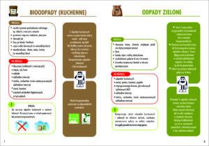 Ulotka opisująca zasady postępowania z bioodpadami kuchennymi i odpadami zielonymi