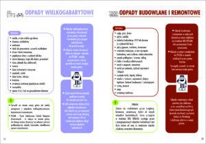 Ulotka opisująca zasady postępowania z odpadami wielkogabarytowymi oraz budowlanymi i remontowymi